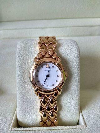 chaumet 18k 98221 yellow gold full gold weight 102G watch