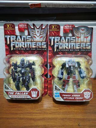 Transformers: Revenge of the Fallen Figurines - Optimus Prime & The Fallen