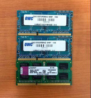 3 x 4GB DDR3 1333MHz Laptop RAM!