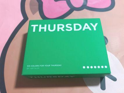 🚚 美妝樂園福利社!ARITAUM Weekly 六格眼影盤 Thursday