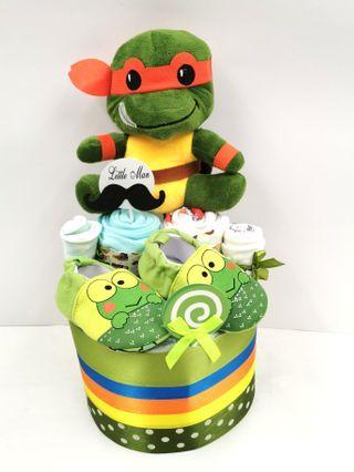 Diaper Cake Ninja Turtle Baby Boy Hamper