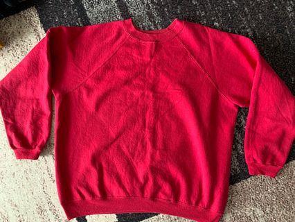 Oversized Plain Pink Sweatshirt