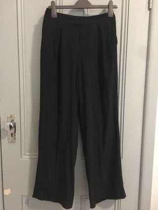 Country Road silk wide leg trousers