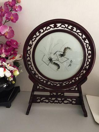 Chinese Artist Painting on Glass