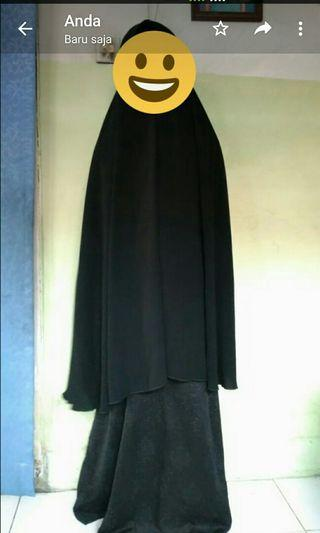 Set gamis plus cadar tali