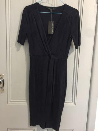 Forever New Suedette Wrap Dress BNWT
