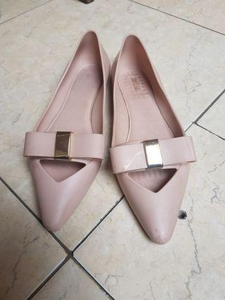 MELISSA BOW PINK FLAT SHOES