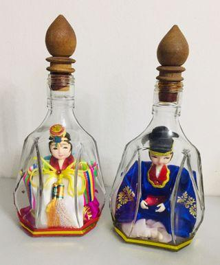 Korean Doll in Glass Bottle