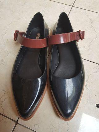 Melissa Black Flats with Strap