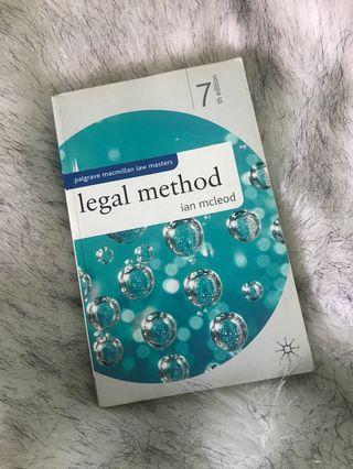 Legal Method 7th Edition Ian McLeod