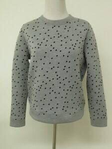 Maje Paris polka dot neoprene sweatshirt