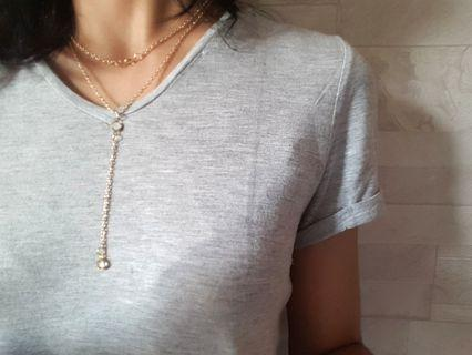 Kalung 2 Layer Gold #mauthr