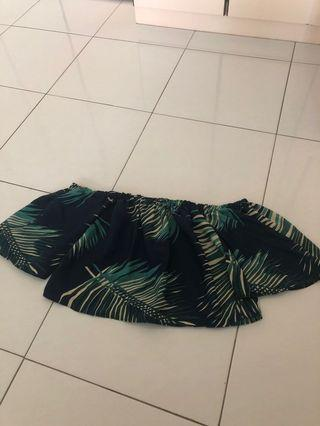 Brand New Tropical Off Shoulder Top