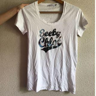 See by Chloe - Logo White Tee - 100% Cotton