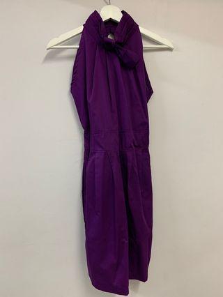 Purple Cut in dress