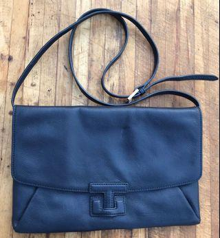Tory Burch Handbag Navy Blue Leather