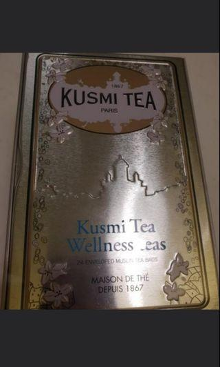 Kusmi wellness tea 全新鐵盒 法國