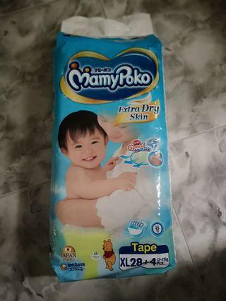 🚚 Mamypoko extra dry tape size XL