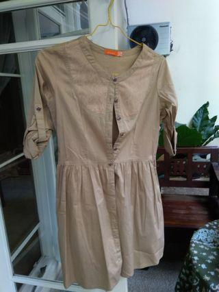 Cute brown babydoll day dress