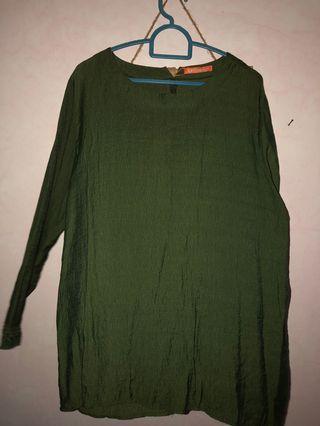 Moss Green Blouse/ Top