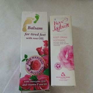 保加利亞 玫瑰 bulgaria rose hand cream foot cream (100% 全新未拆)