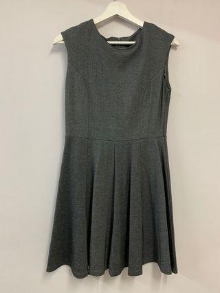 Sleeveless Grey Skater Dress