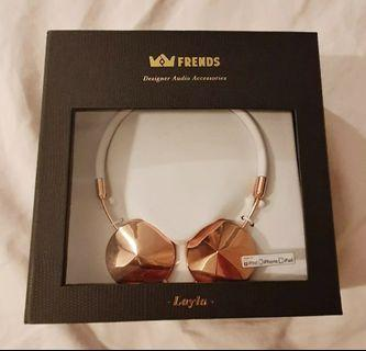 Frends Leyla Headphones in Rose Gold / White RRP $199.95