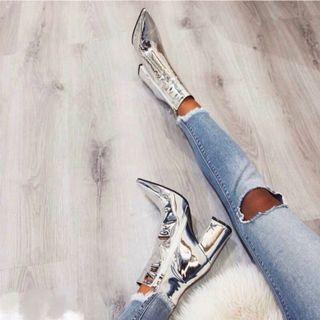 Silver Shoes 99% New銀色三吋高跟鞋