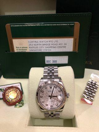Preowned Datejust Ladies 31mm 178274 Silver Computer Dial 10pt Diamonds (Dec 2012)