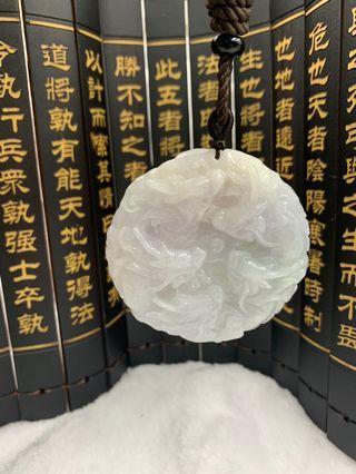🚚 九龙至尊翡翠玉佩 A Grade A Burmese Jadeite Dragon Jade Pendant