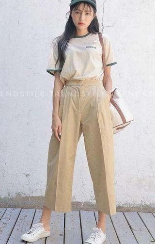 Korean straight-cut trousers