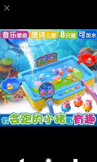 🚚 現貨1(預購)e超可愛佩佩豬釣魚玩具 商品代碼:A0030270