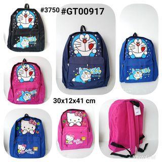 🚚 Kids Doraemon Hello Kitty Backpack