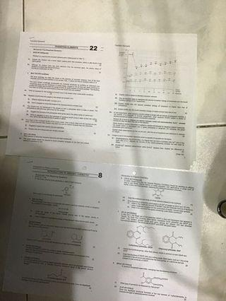 RI H2 Chemistry Revision Packages (with solutions!)