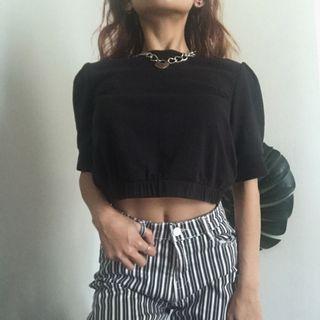 H&M Black Crop Top
