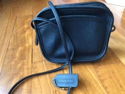 Coach almost vintage Blue sling bag