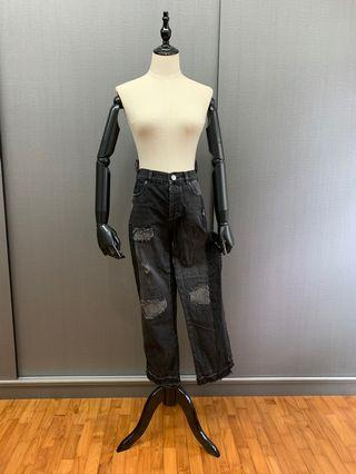ASOS grey patchwork jeans