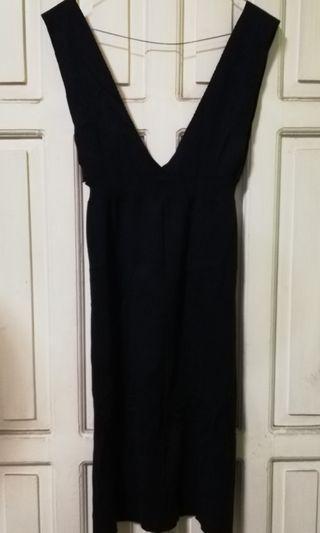 Korean V-neck Knitted Dress