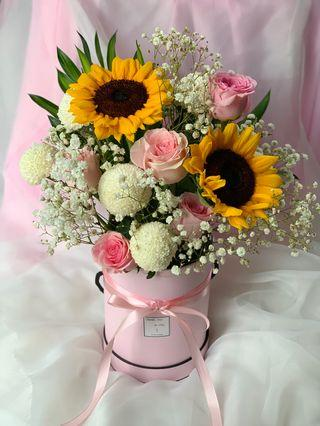 Fresh Flower in box design