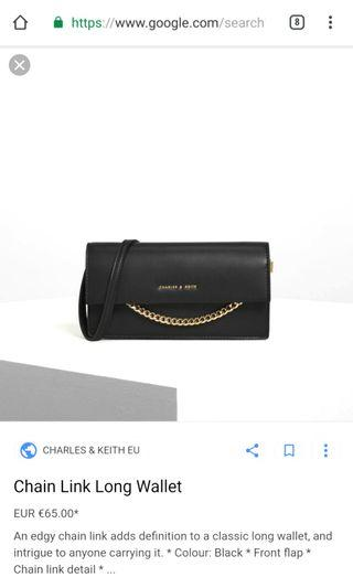 Charles And Keith Wallet (Black)