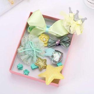 🚚 Girl Hair Accessories set with gift box(10pcs)
