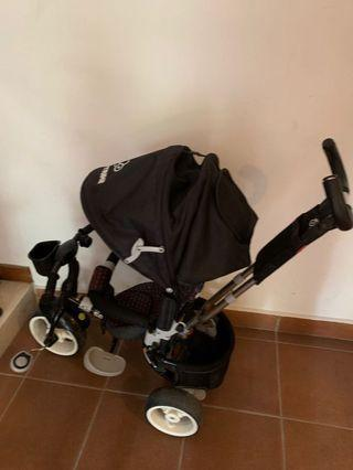 Bicycle stroller. 3 fat tire wheel bicycle detachable