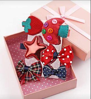 🚚 Girl Hair Accessories set with gift box(6pcs)