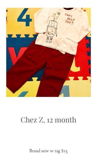 Baby pants and shirt French brand Z