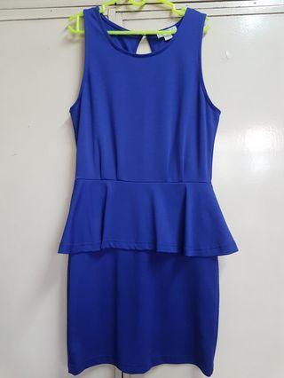 Cotton On Blue Peplum Dress
