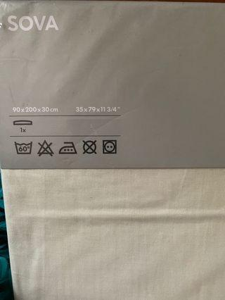 🚚 Ikea single fitted bedsheet