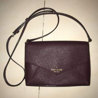 Kate Spade Authentic Sling / Crossbody Bag Purple (lupa nama tipe tasnya)