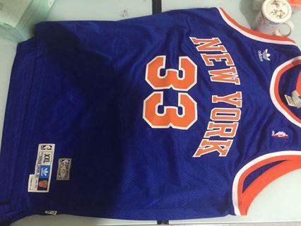 Adidas New York Knicks Patrick Ewing 客場藍復古刺繡版