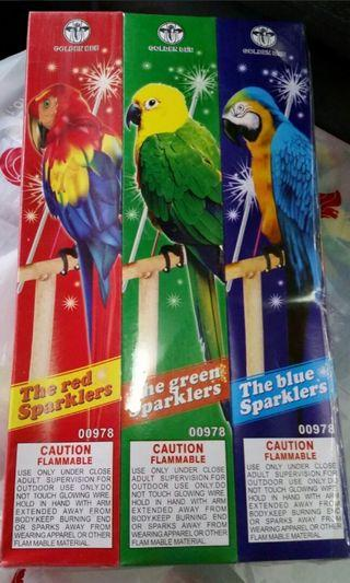 "10"" Golden Bee Blue Red Green Sparklers Sparkler Fireworks, 5pcs In Each Pack / Box, 12 Packs / Boxes Going For $12 for S$12!"