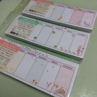 Weekly Plan便利貼
